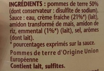 Gratin dauphinois - Ingredients - fr