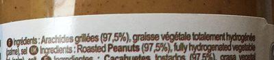 Pâte d'Arachide - Ingrédients