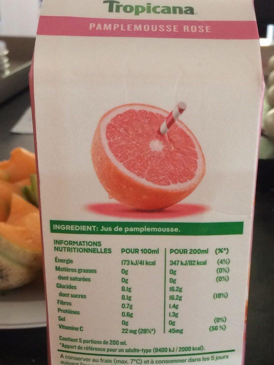 Pure premium pamplemousse rose - Ingrediënten