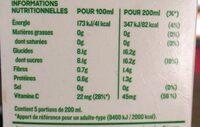 Tropicana Pure premium pamplemousse rose 1 L - Información nutricional - fr
