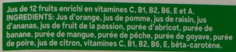 Tropicana multivitamines 1 L - Ingredients - fr