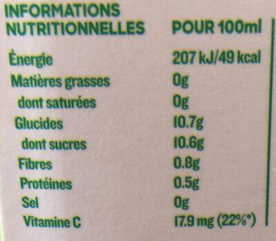 Jus Réveil fruité - Valori nutrizionali - fr