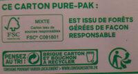 Jus Réveil fruité - Istruzioni per il riciclaggio e/o informazioni sull'imballaggio - fr