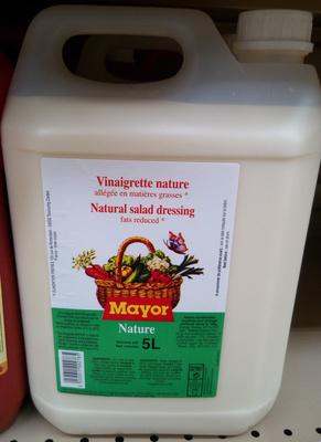Vinaigrette nature allégée en matières grasses - Produit