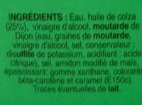 Vinaigrette nature allégée en matières grasses - Ingrédients