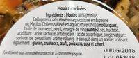 Antipasti de la mer Moules - Ingrédients - fr