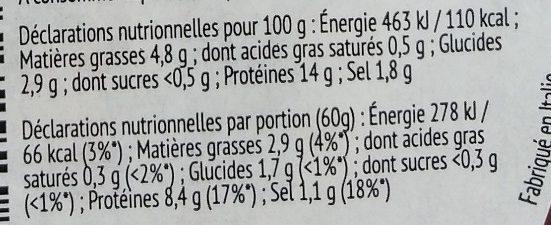 Antipasti de la mer Moules - Informations nutritionnelles - fr