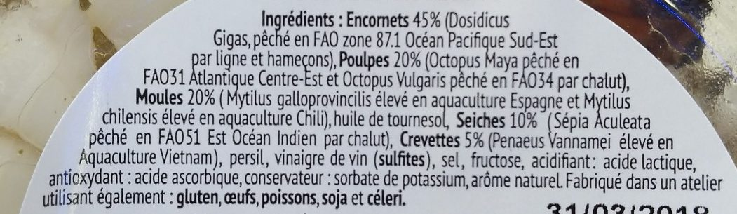 Salade de la mer - Ingredients