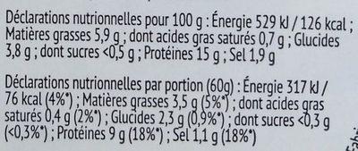 Salade de la mer - Informations nutritionnelles - fr