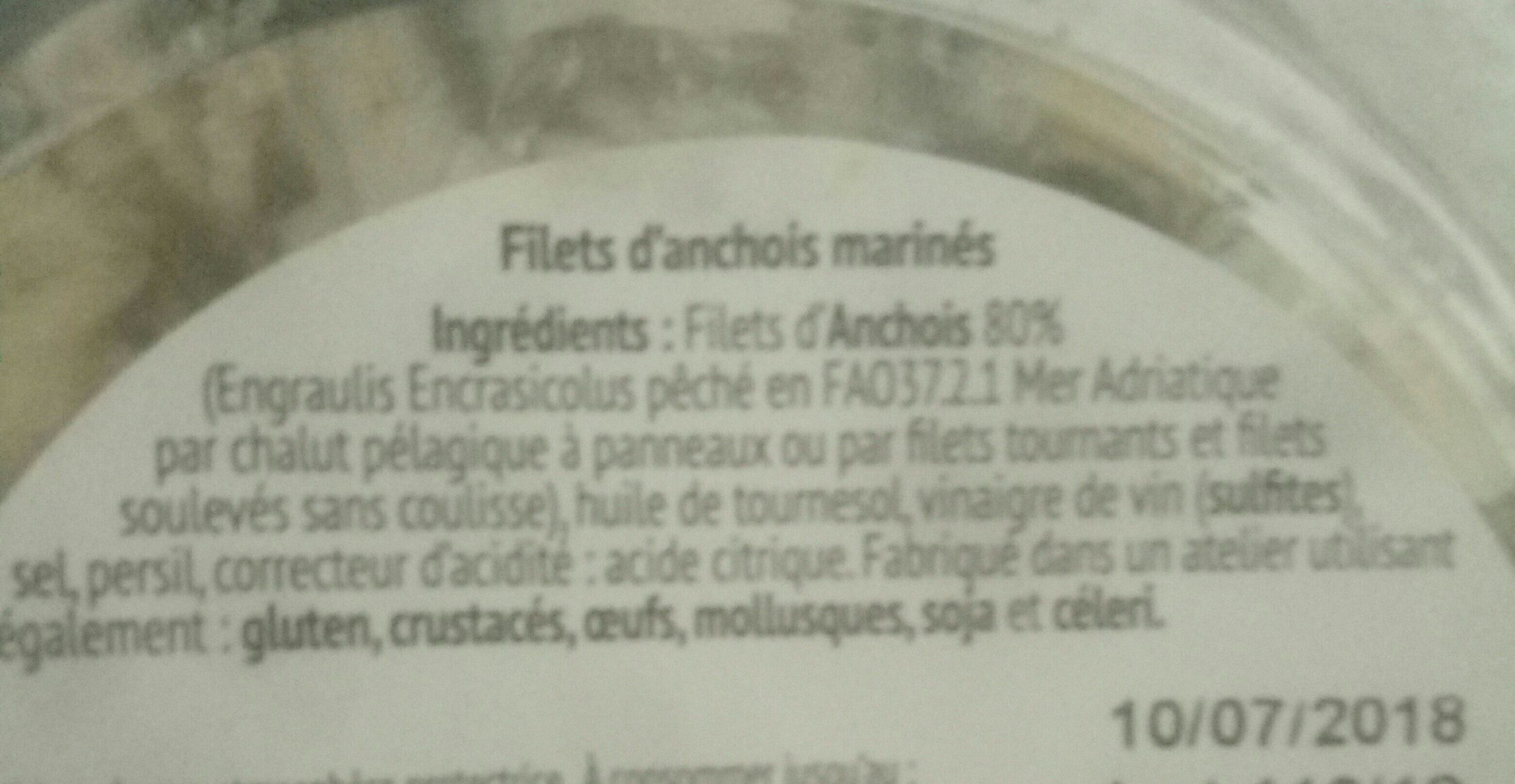 Filets d'anchois - Ingredients - fr