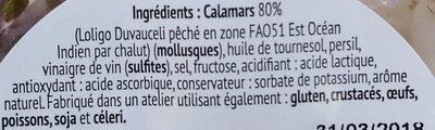 Calamars - Ingrédients - fr
