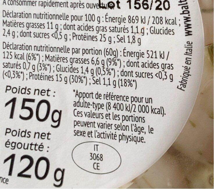 Calamars - Informations nutritionnelles - fr
