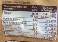 Mini gnocchi - Valori nutrizionali - fr