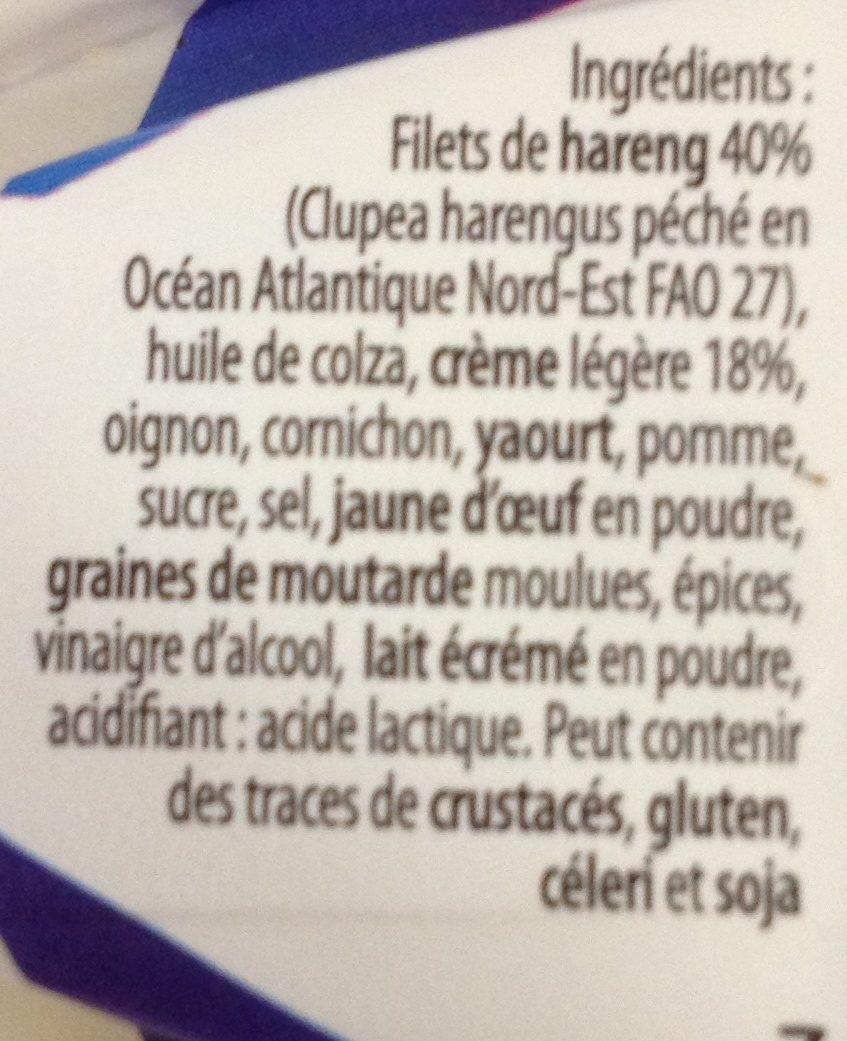 Filets De Hareng A La Creme - - Ingredienti - fr