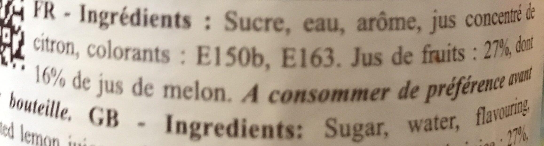 Monin - Melon Syrup 70cl Bottle - Ingredienti - fr