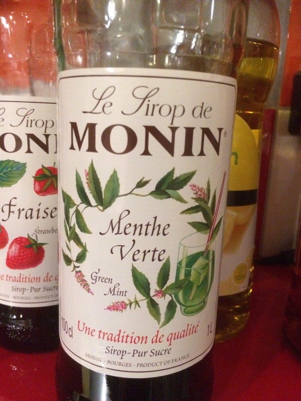 Le Sirop De Monin Menthe Verthe - Product