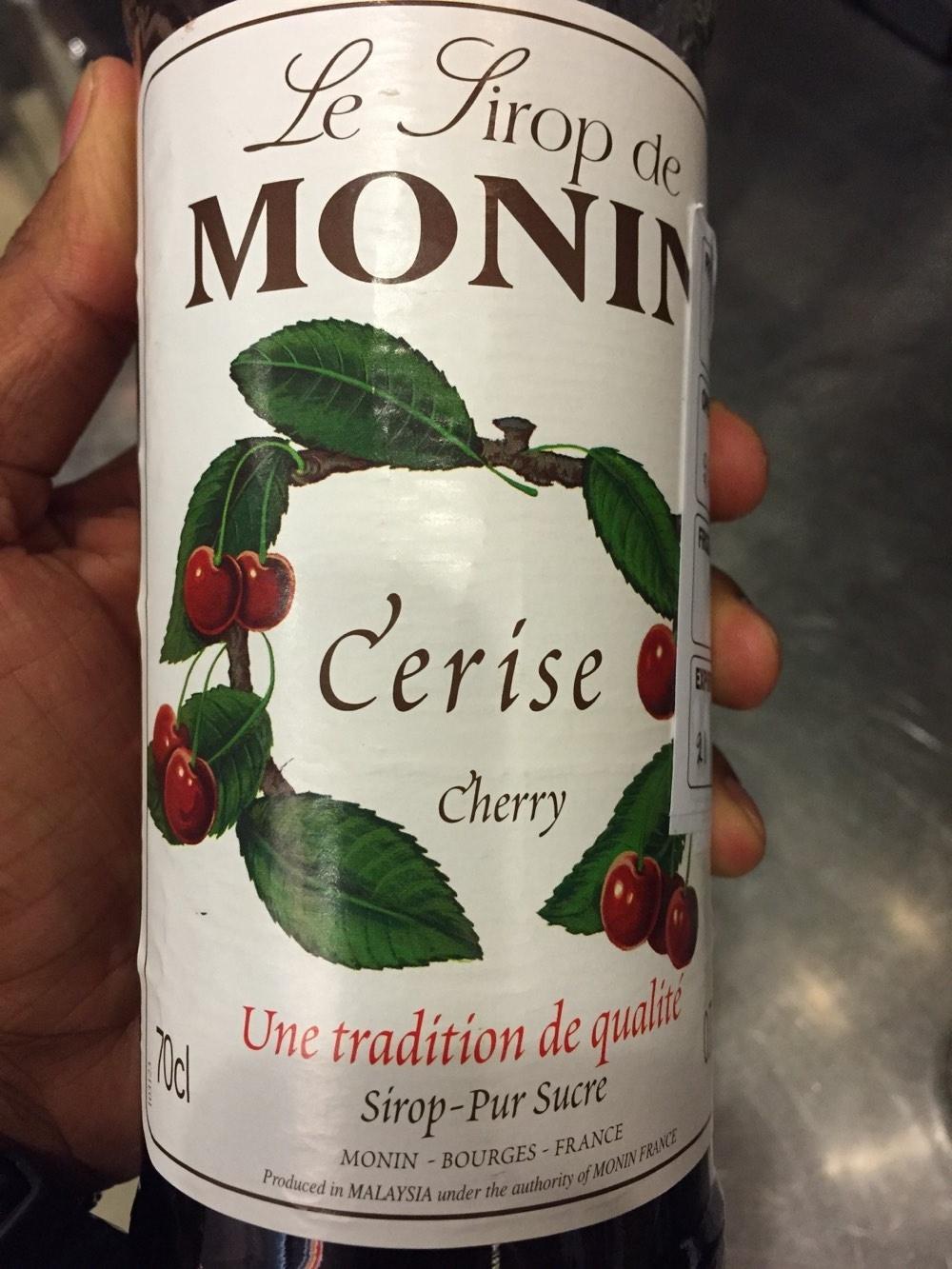 Le sirop de Monin  cerise - Produit - fr