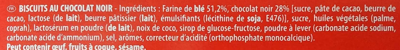 Pépito Chocolat Noir - Ingredients - fr