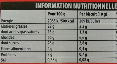 Pépito Chocolat Noir - Nutrition facts - fr