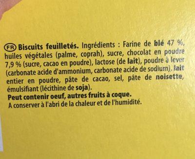Petits coeurs chocolat - Ingrédients - fr