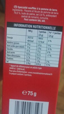 Chipster - Nutrition facts - fr
