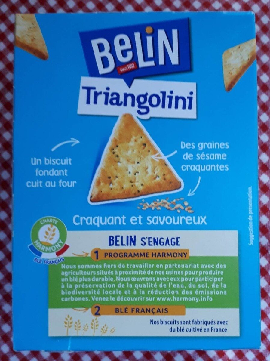 Biscuits crackers Triangolini aux graines de sésame craquantes - Product - fr