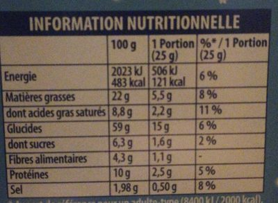 Biscuits crackers Triangolini aux graines de sésame craquantes - Voedingswaarden