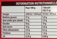 Kango - Nutrition facts
