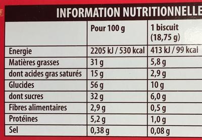 Kango - Informations nutritionnelles - fr