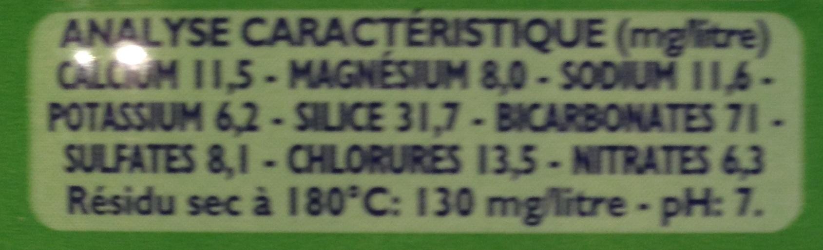 Eau Minérale Naturelle (Pack de 6x50 cl) avec Unicef - Ingredients - fr
