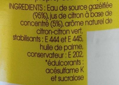 Taillefine Fiz Citron - Ingrediënten