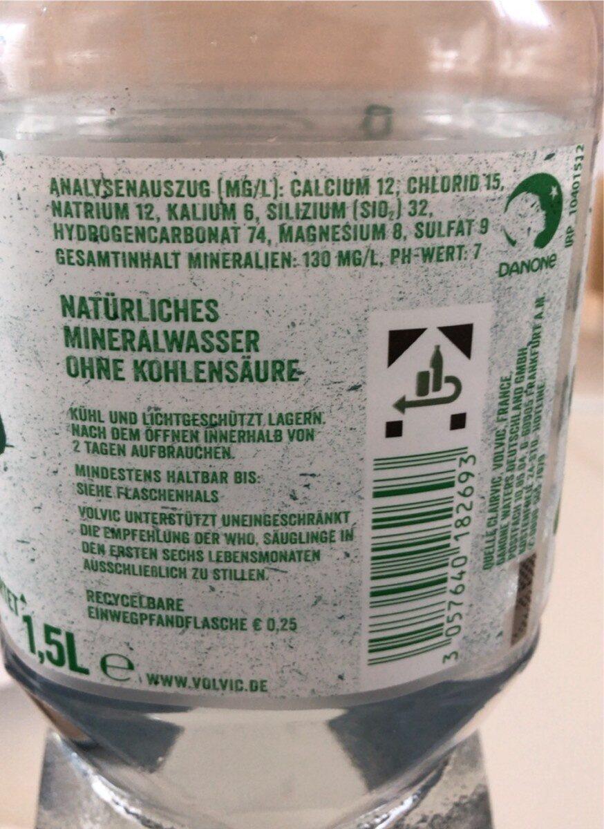 Volvic Natürliches Mineralwasser - Valori nutrizionali - de