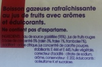 Taillefine Fiz Fruits Rouges - Ingrédients