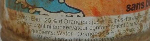 Oasis aux oranges - Ingrédients