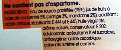 Taillefine Fiz Orange - Ingrediënten