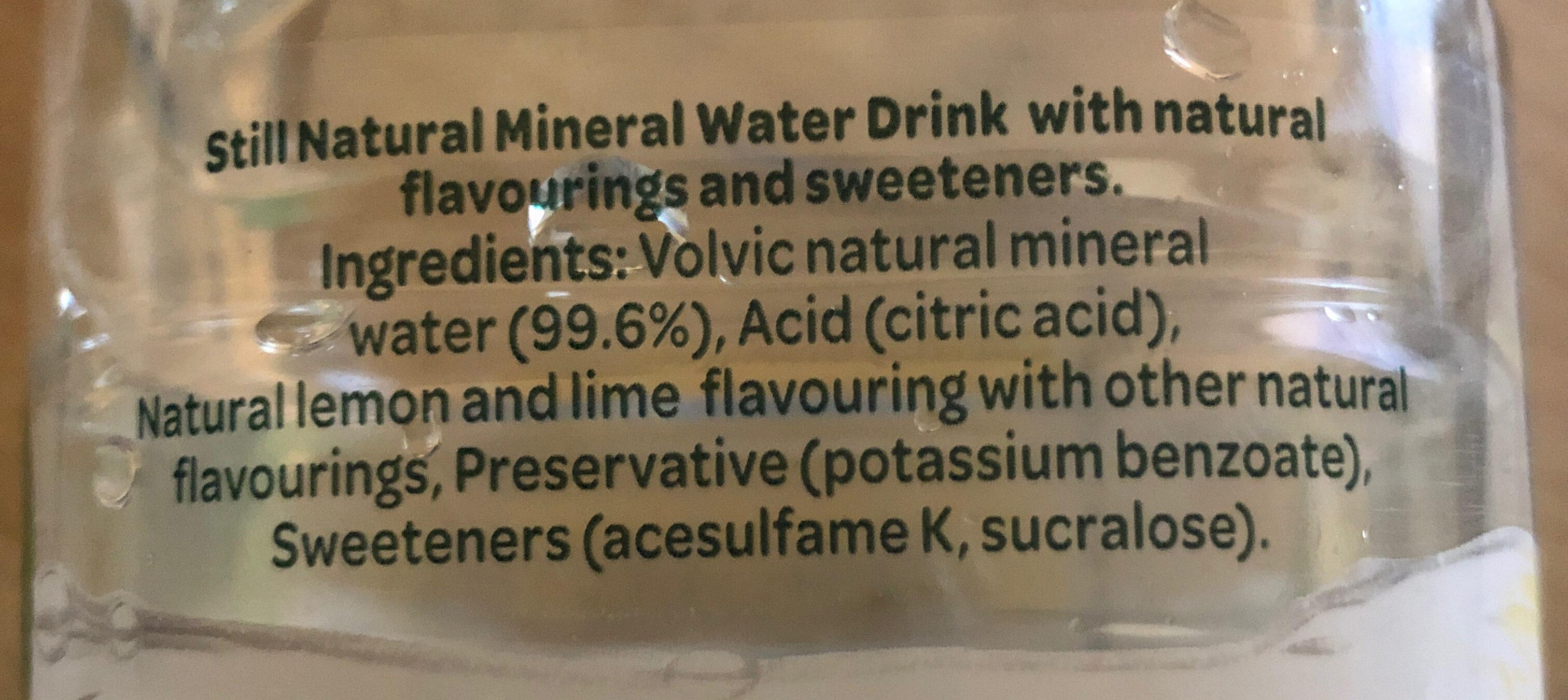 Touch of Fruit Sugar Free Lemon & Lime Flavoured Water - Ingrédients - en