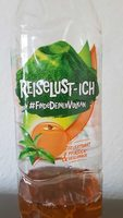 Erfrischungegetränk mit natürlichem Mineralwasser, Tee-Extrakt und Pfirsich-Geschmack. - Producto - de