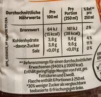Erfrischungegetränk mit natürlichem Mineralwasser, Tee-Extrakt und Pfirsich-Geschmack. - Informations nutritionnelles - de