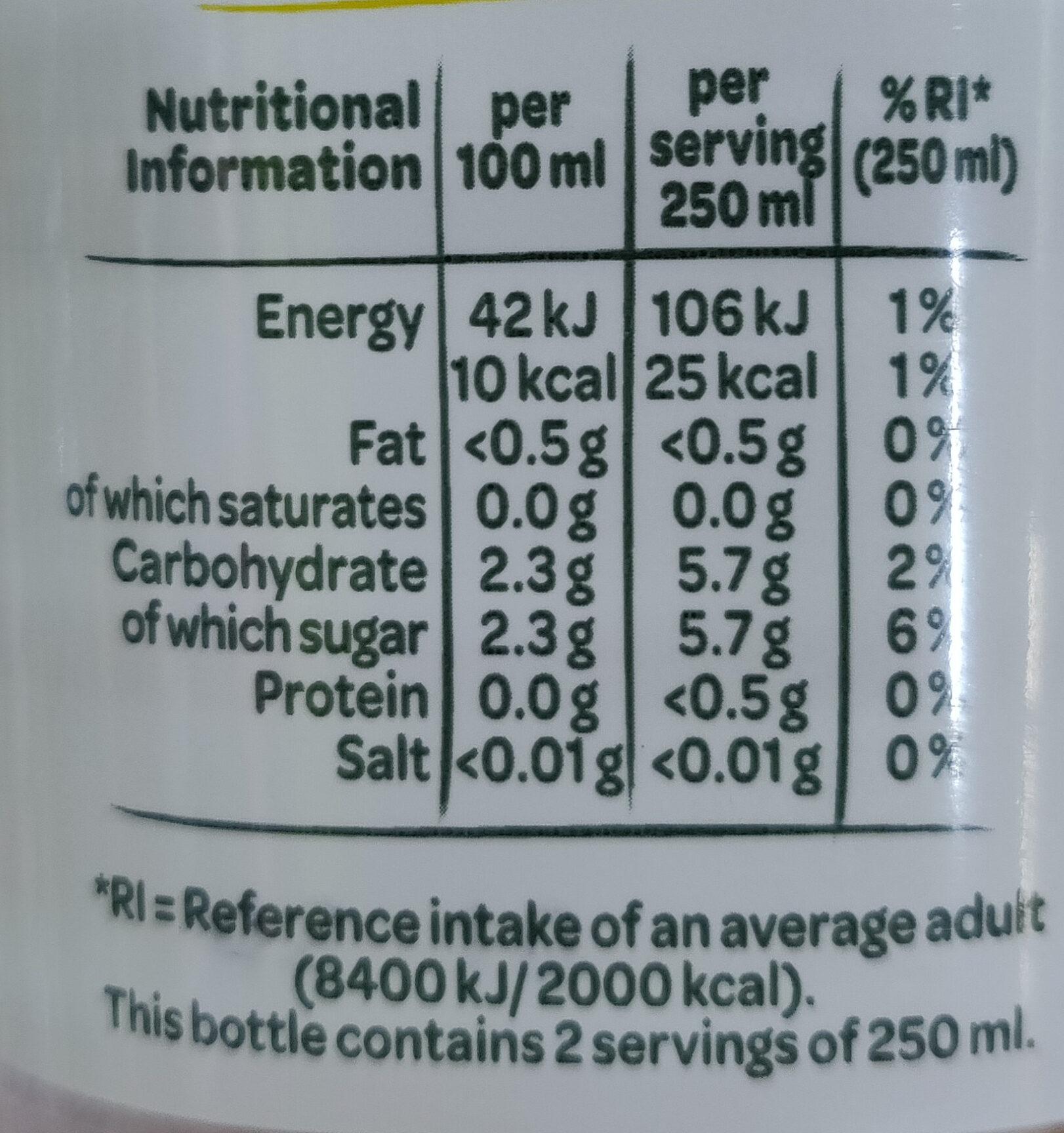 Touche de Fruit Citron-Citron vert - Nutrition facts