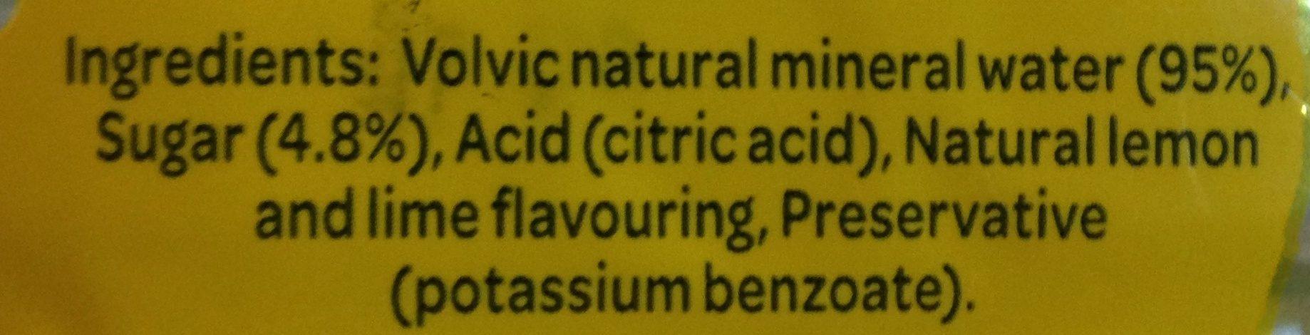 Volvic Touch Of Fruit Lemon & Lime - Ingrédients