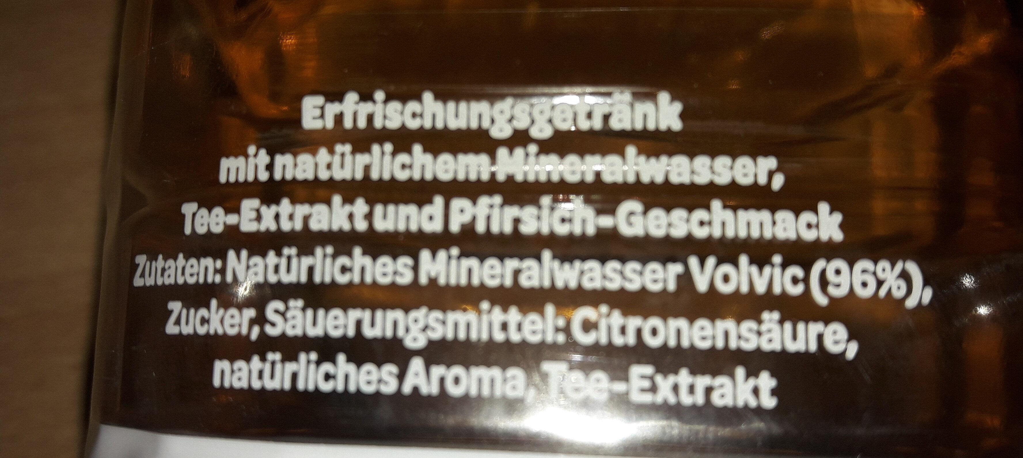 Danone, Volvic Tee, Pfirsich Aromatisiertes Mineralwasser - Ingredienti - de