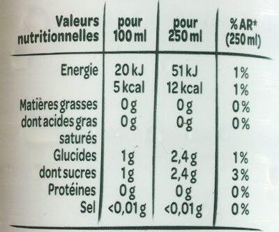 Volvic zest citron - Nutrition facts - fr