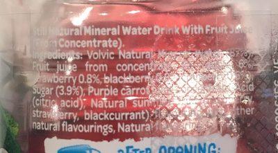 Juiced Berry medley - Ingredients