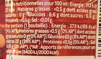 Juicy Fraise - Nutrition facts - fr