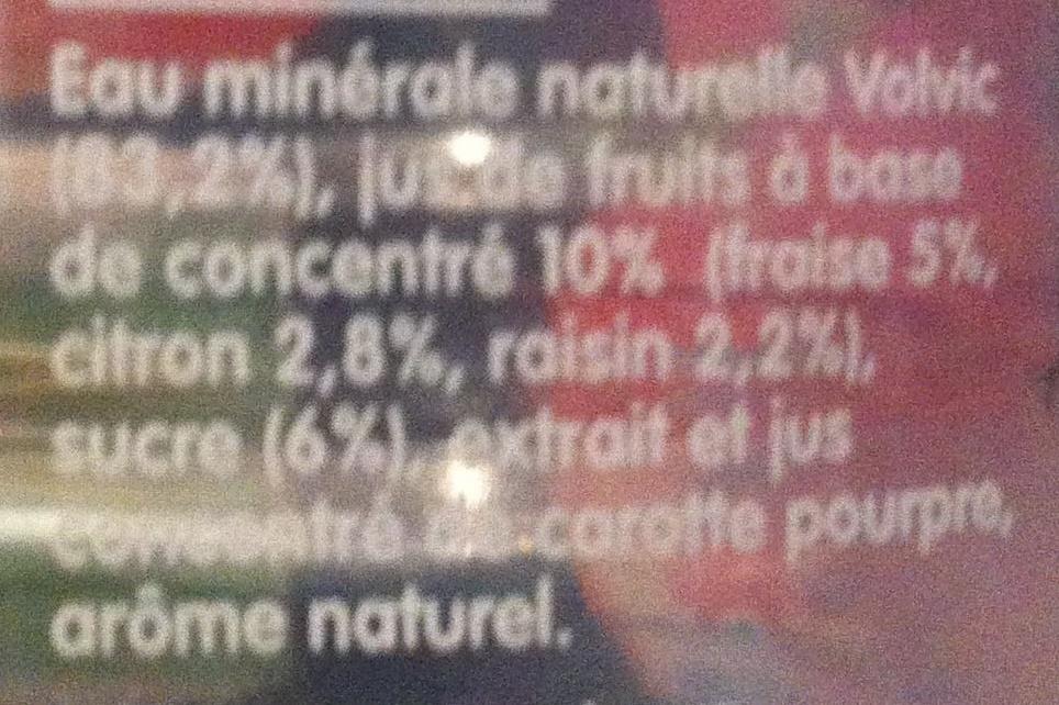 Volvic au jus de fraise - Ingrédients - fr