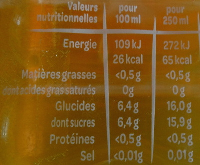 Juicy Fruits Exotiques - Voedingswaarden - fr