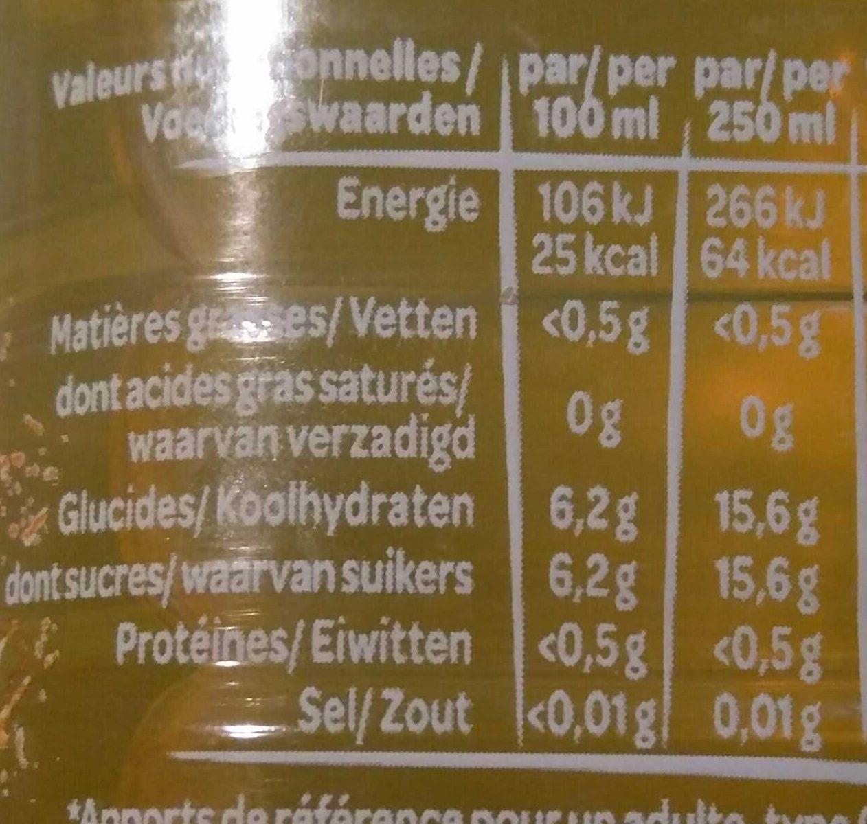 Volvic Juicy au jus de fruits exotiques - Informations nutritionnelles - fr