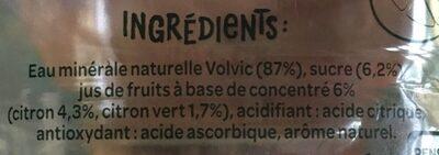 Juicy Citronnade - Eau minérale naturelle - Ingredients - fr