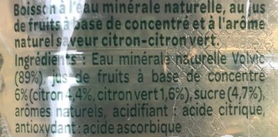 Juicy Citronnade - Ingrédients