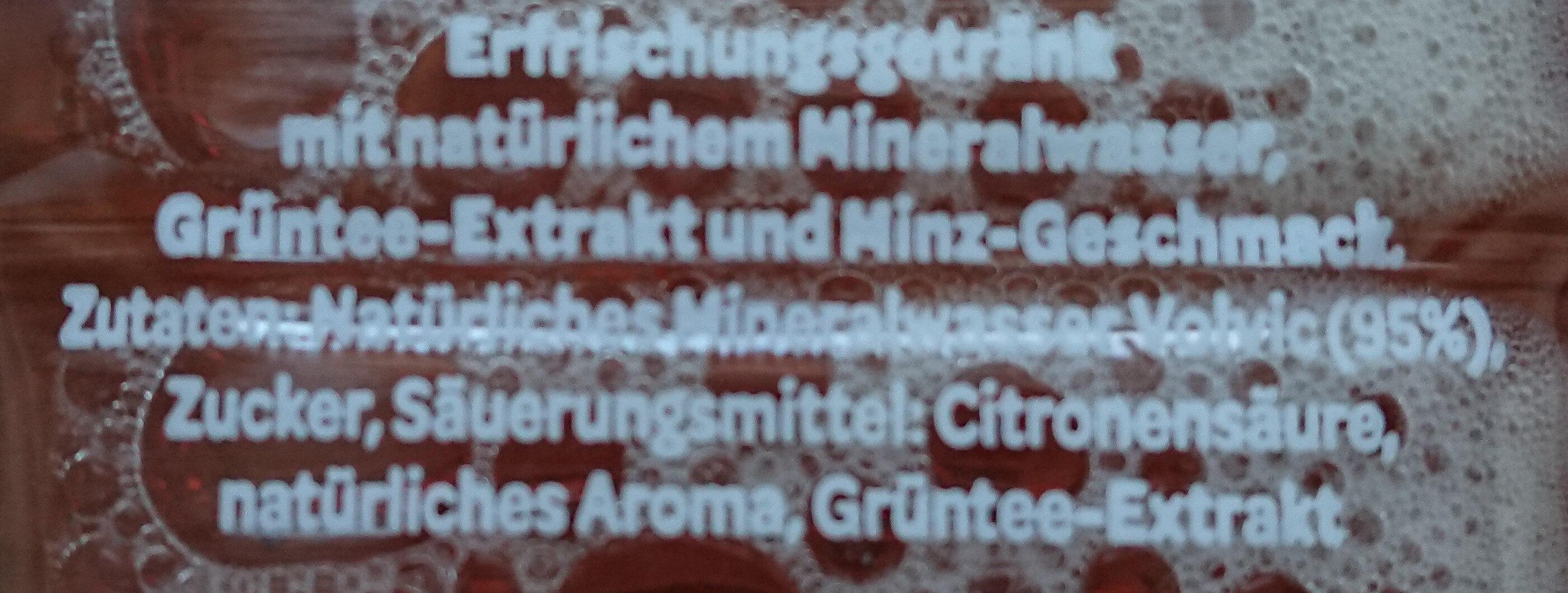 Tee Minz Geschmack - Ingredienti - de